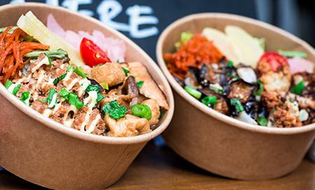 Kraft bowls with food