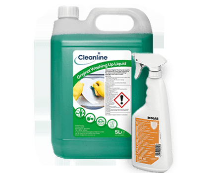 Ecolab and Cleanline cleaning chemicals