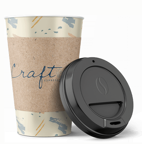 Branded coffee cup