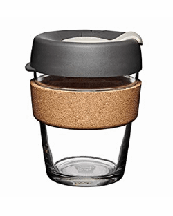 Black and cork keep cup