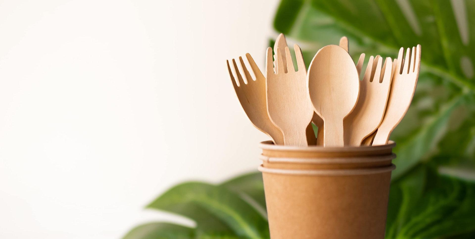 Sustain wooden cutlery